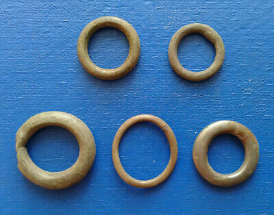 lot of 5 Celtic bronze ring-money, 5th-1st cent BC. №005