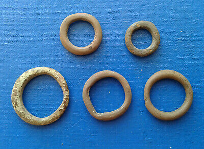 lot of 5 Celtic bronze ring-money, 5th-1st cent BC. №006