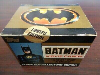 1989 Topps Batman Movie Cards SEALED Complete Set-143 Cards-22 Stickers