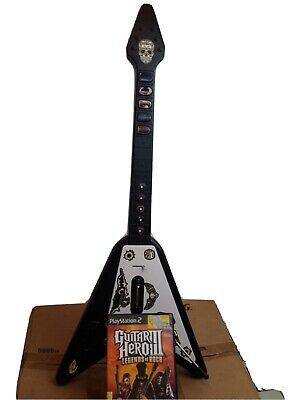ANTCOMMANDOS Double Range WIRELESS GUITAR CONTROLLER PS2  PS3 w/ Guitar Hero II