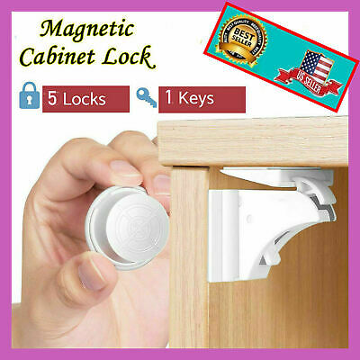 5 x pcs Baby Safety Magnetic Cabinet Locks Invisible Child Proof Cupboard Drawer