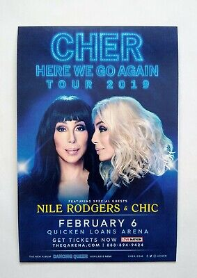 Cher Here We Go Again/ Arianna Grande -Sweetener concert promotional cards lot 4