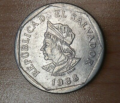 1988 El Salvador 1 Colon
