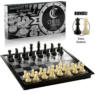 NEW Chess Armory Magnetic Travel Chess Set