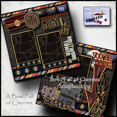 Your Room is Ready EZ Layout 4230 Premade Scrapbook Pages Tower of Terror