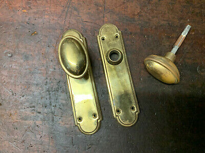 Vintage Brass Door Set, internal Door set, Door Hardware