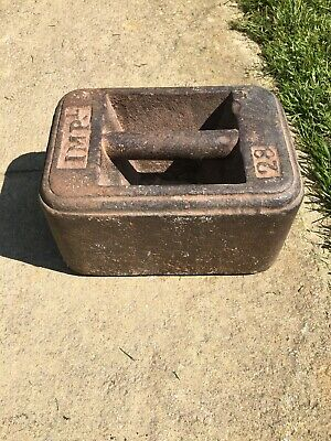 Vintage Antique Imperial 28lb Cast Iron Weight- Doorstop!