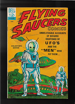 "1967 1st  ISSUE "" FLYING SAUCERS ""  UFO COMPLETE & ORIGINAL DELL 12c COMIC BOOK"
