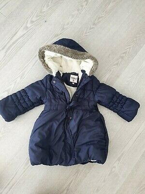 Junior J Jasper Conran blue girls hooded jacket size 3-4 years old
