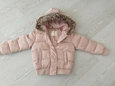 Young Dimension girls dusky pink bomber jacket with hood size 4-5 years old