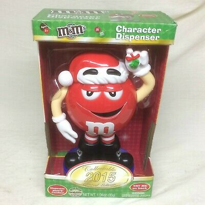 M&M Red Christmas Character Dispenser  2015 Limited Edition