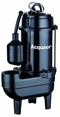 Acquaer 1/2 HP Durable Cast iron Sewage Pump with 10ft. power cord+Piggy back