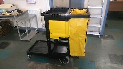 Rubbermaid Cleaning Trolley  Janitorial Cart