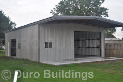 DuroBEAM Steel 30x36x14 Metal Building with 10 ft Self Supporting Canopy DiRECT