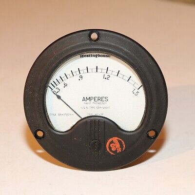 Westinghouse Amperes Meter 0-1.5 -  Radio Frequency