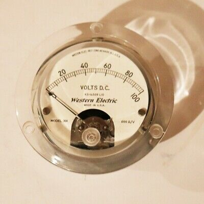 Western Electric DC Volts Meter 0-100 - Model 301