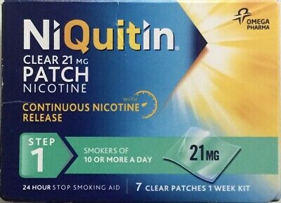 NiQuitin Clear 21mg 7 Patches - Step 1