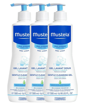 Mustela Gentle Cleansing Gel 3 x 500ml