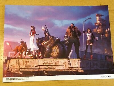 Final Fantasy Vii (7) Remake Limited Numbered Lithograph (Random#) - Brand New