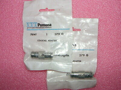 2 New Old Stock Pomona 3841 Coaxial Adapter