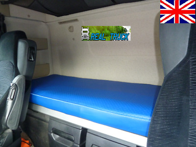 Fit Mercedes Actros Mp4 Truck  Bed Cover -Blue Eco Leather