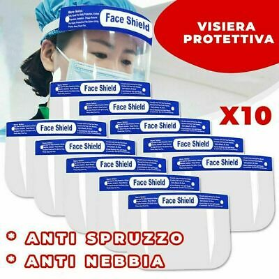 10 X Safety Full Face Shield Clear Glasses Protector Anti-Fog Work Industry @s