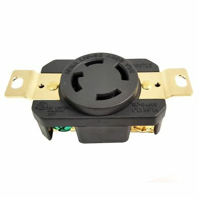 Twist Lock Female Wall J Box Mounted Electrical Receptacle 4 Wire 30 Amps 250V