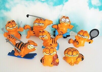 Lot Of 8 Vintage Garfield Pvc Figures 1978 1981 United Feature Hong Kong Sports