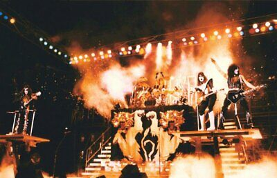KISS Band 24 x 37 San Diego / Alive II Era Stage Shot Reproduction Poster