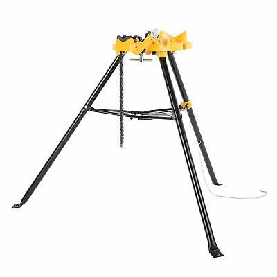 """460 6"""" Tripod Pipe Chain Vise Stand for RIDGID 72037 36273 20''x16'' Portable"""