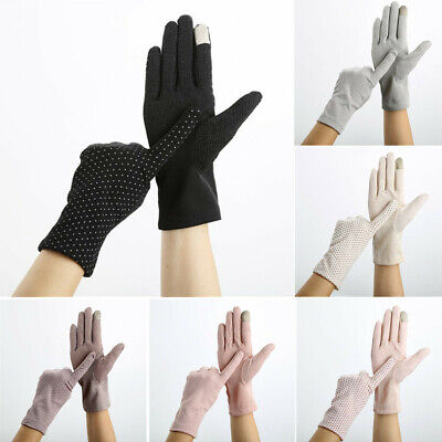 Women Ladies Non-slip Glove Female Sun Protection Driving Sunscreen Gloves