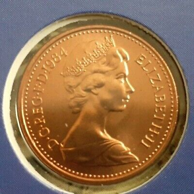 Rare 1984 Halfpenny B U Coin. 1 of just 2 year not released, almost as minted