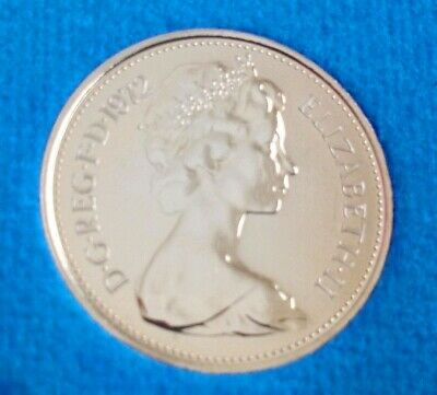 1972 5p Larger Coin. Not released. Low Mintage of Proof. Wow, close to perfect