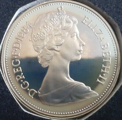 1984 10P Larger  proof Coin.  Not released. Low Mintage of proof. Toned decent