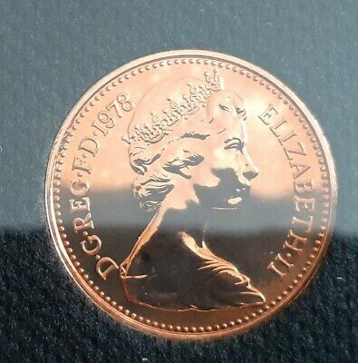 1978 1p halfpence Proof Coins. Low Mintage of proofs. top examples for age