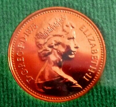 1975 1p and half penny proof Coins. Mint perfect, low Mintage of proof