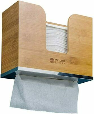 Multifold Bambo Paper Towel Dispenser Décor Natural Color Wall Counter Mount new