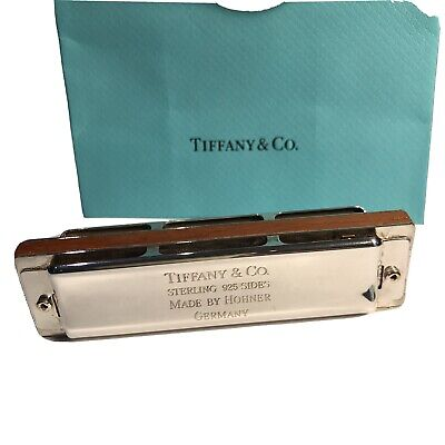 Tiffany&Co. Stirling Silver Harmonica Made by Hohner Germany in V Good Condition