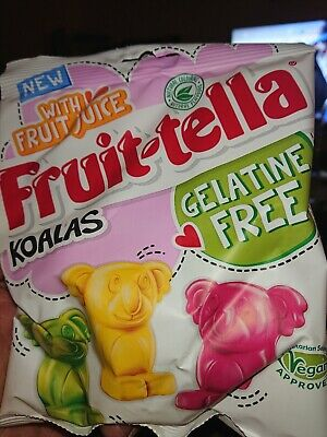 Fruitella Koalas Vegan Gelatine Free 100g bag New