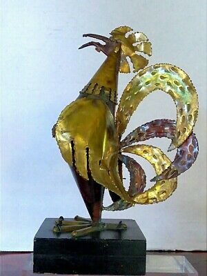 Vintage Hand Made Brass Rooster