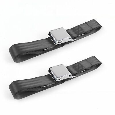 Ford Mustang 1964-1966  Airplane 2pt Tan Lap Bench Seat Belt Kit 3 Belts v8