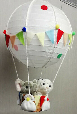 Jungle Friends in Hot Air Balloon Lamp-Light Shade decorative nursery gift