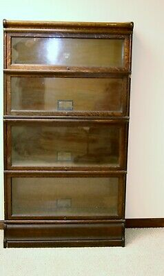 Antique Globe -Wernicke Co. 4 tier barrister bookcase