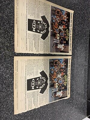 Golds Gym Vintage Advertising Paper Clippings Scrap Book Gym Cuttings Body Build