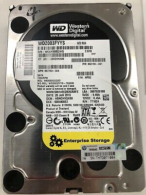 "Western Digital WD 2Tb 3.5"" RE4 Enterprise SATA Server HDD 7200rpm WD2003FYYS"