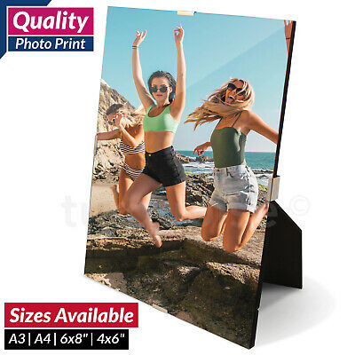 Personalised Frameless Photo Clip Frame & Print Picture Image Art A3 A4 4x6 6x8