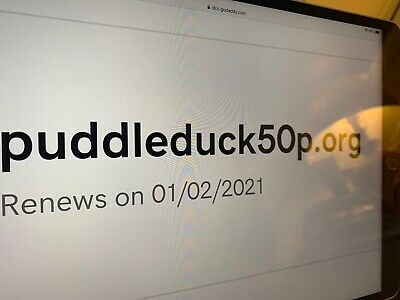 Domain Name Puddleduck50p.org For Sale PuddleDuck 50p