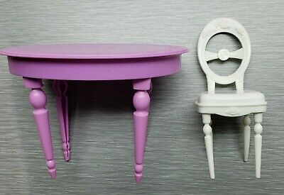 2008 Barbie 3-Story Dream Townhouse Kitchen Dining Room Table & Chair Furniture