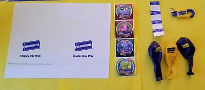 Vintage Original Blockbuster Assortment Key Ring Balloons Stickers Price