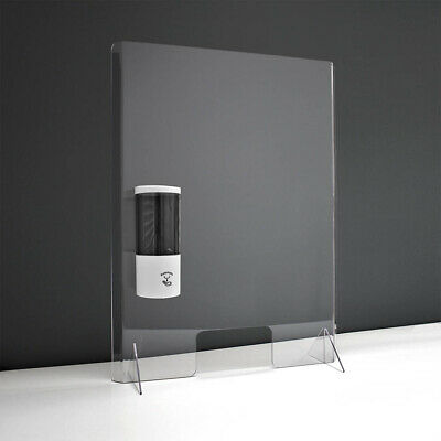 Large Shop Counter Sneeze Screen Guard  750mm high with optional Soap Dispenser